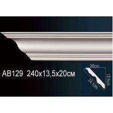 AB129  Плинтус гладкий под покраску Perfect