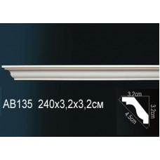 AB135  Плинтус гладкий под покраску Perfect